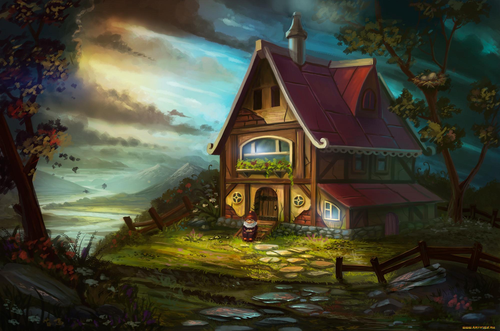 Картинки домиков из мультфильмов